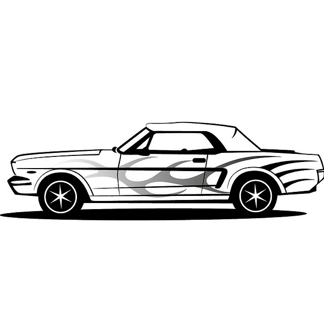 back of mustang clipart