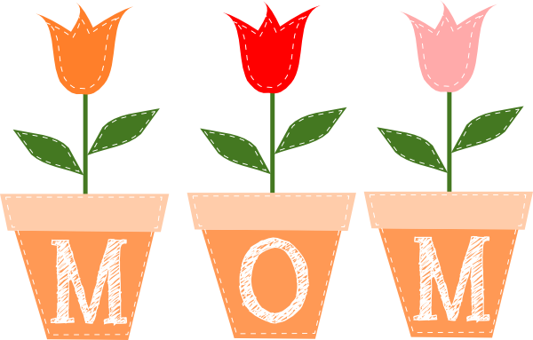 Mother S Day Clip Art Mom Flowers Clip Art For Your Mothers Day Png