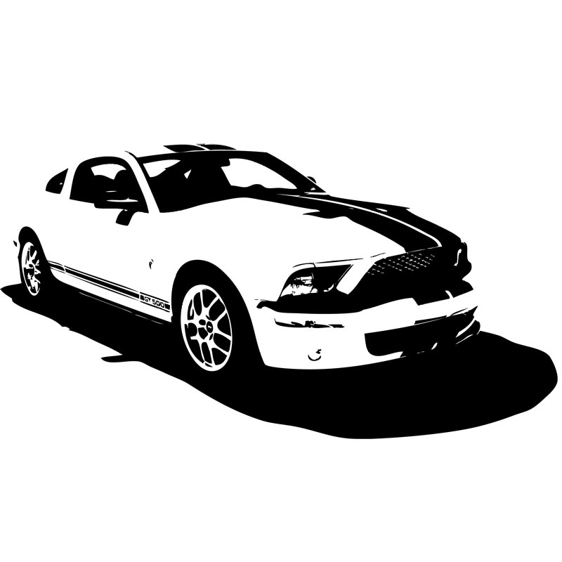 Mustang Car Silhouette Clipart Ford Mustang Gt500