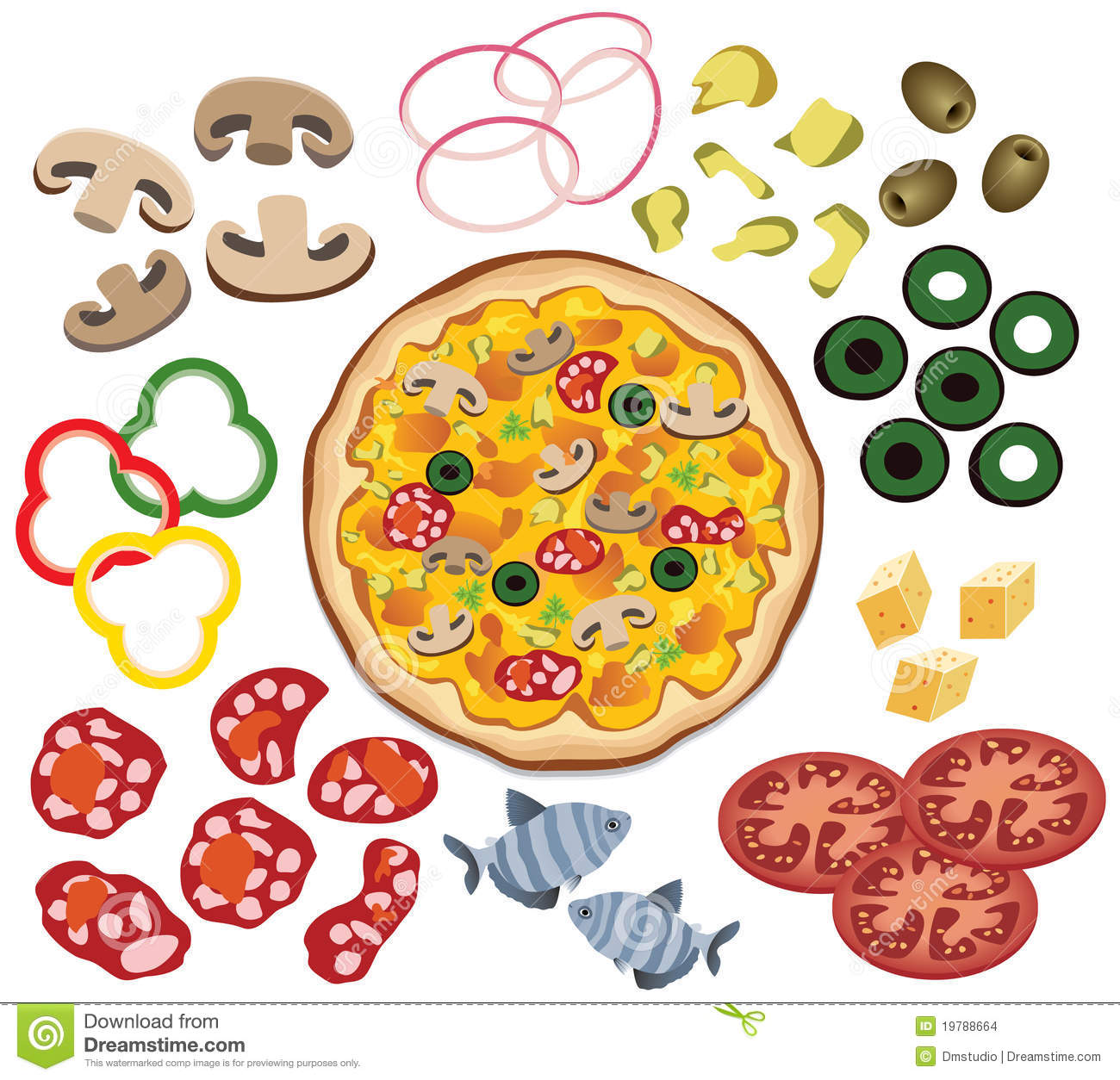 Pizza Toppings Clipart - Clipart Kid