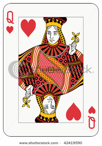 Queen Of Hearts Clipart Queen Of Hearts Playing Card