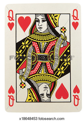Queen Of Hearts Playing Card Clipart Of Hearts Playing Card