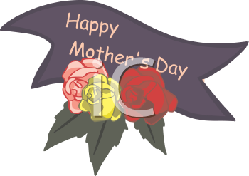 Royalty Free Clip Art Image  Happy Mother S Day Banner With Roses