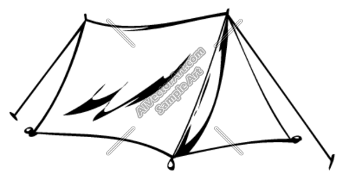 Tent Clipart And Vectorart  Sports   Outdoor Sports Vectorart And