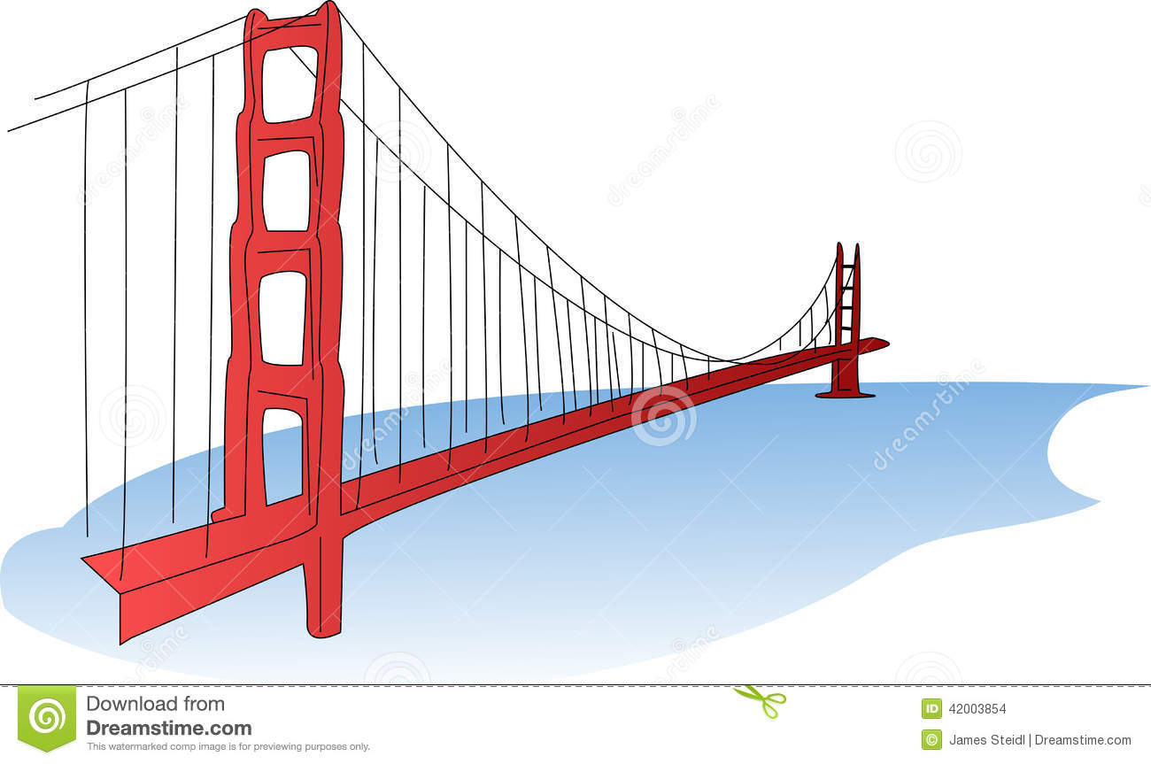 bridge clipart golden gate bridge clipart clipart kid golden gate ...