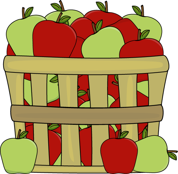 Basket Of Red And Green Apples Image Filled With Clipart