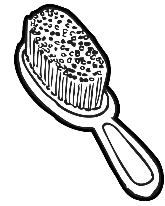 Line Art Brushes Photo : Hair brush black and white clipart suggest