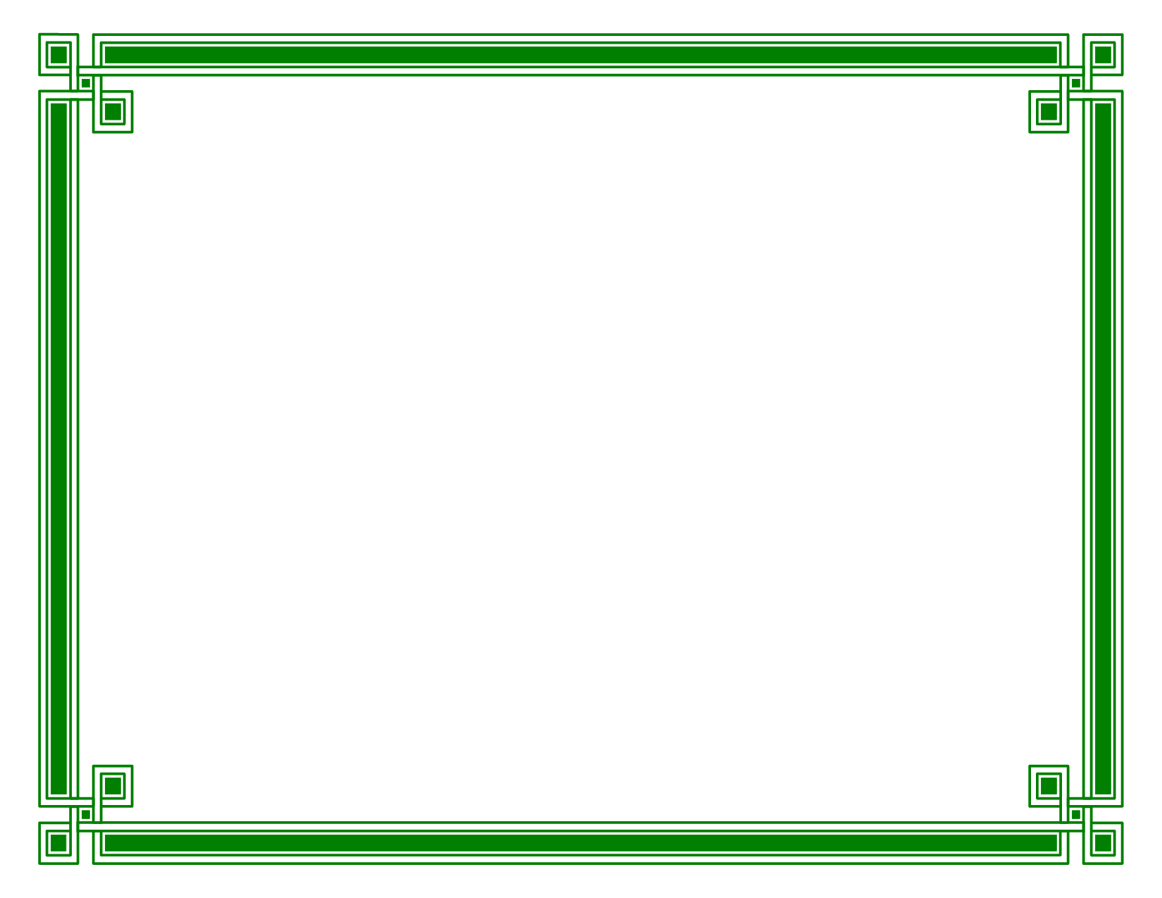 Certificate Border Paper Dark Green Style 2 By Bamafun