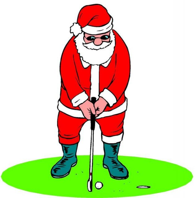 Christmas Golf Clipart - Clipart Kid