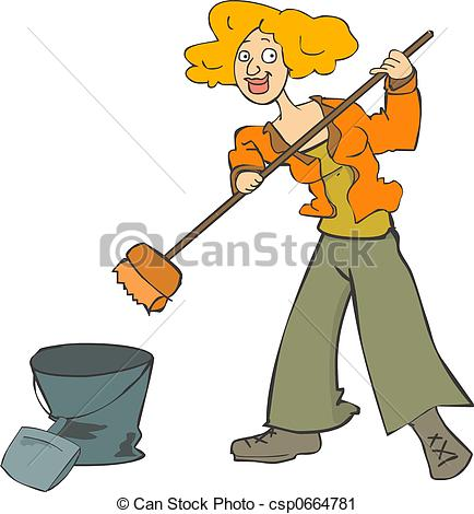 Cleaning Girl Clipart