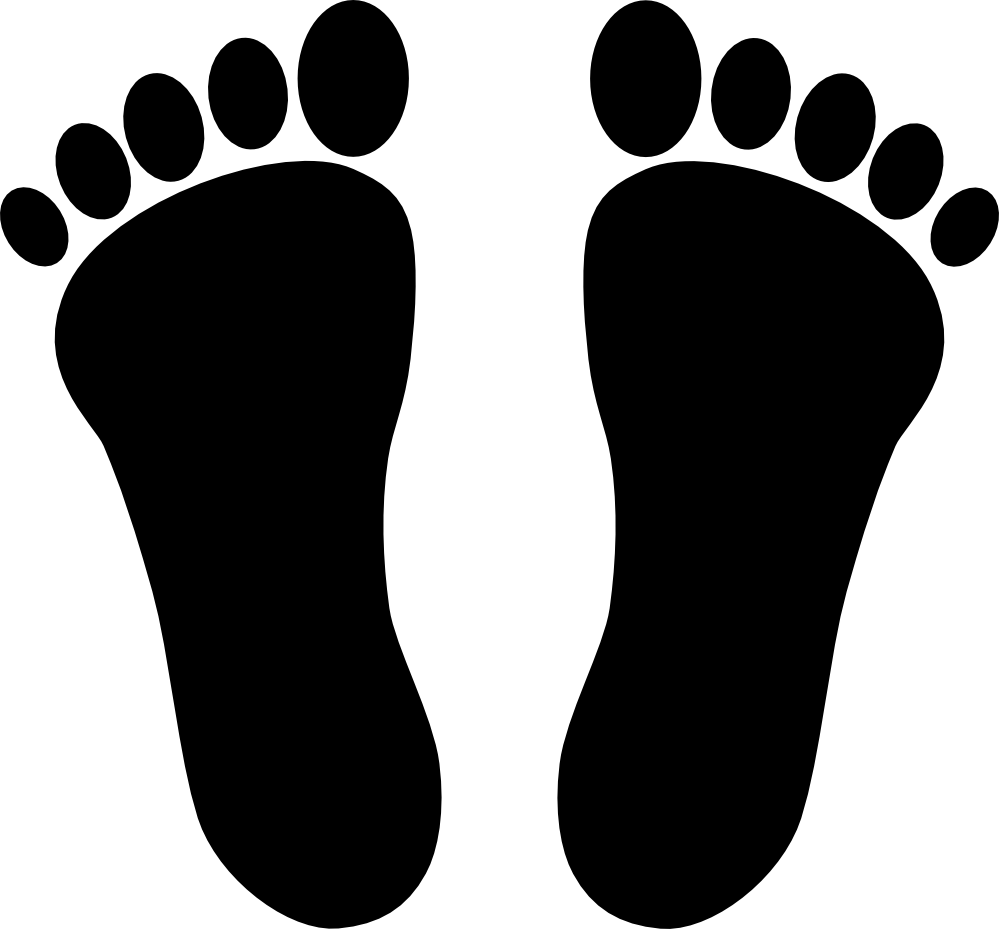 Clipartist Net   Clip Art   Foot Print Two Svg