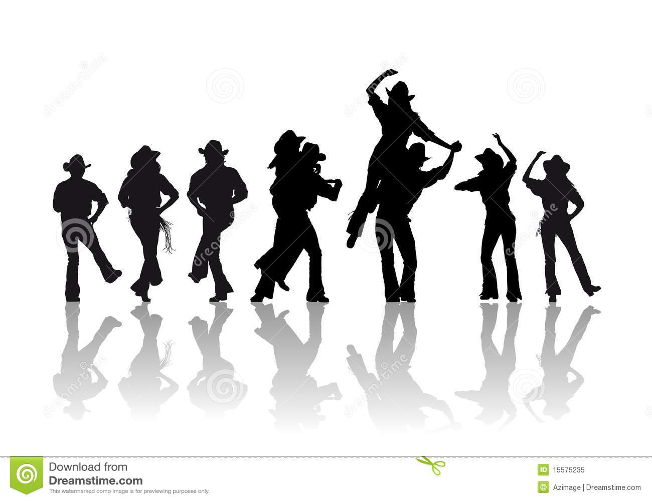Country Line Dancing Clipart Cowboy Dance