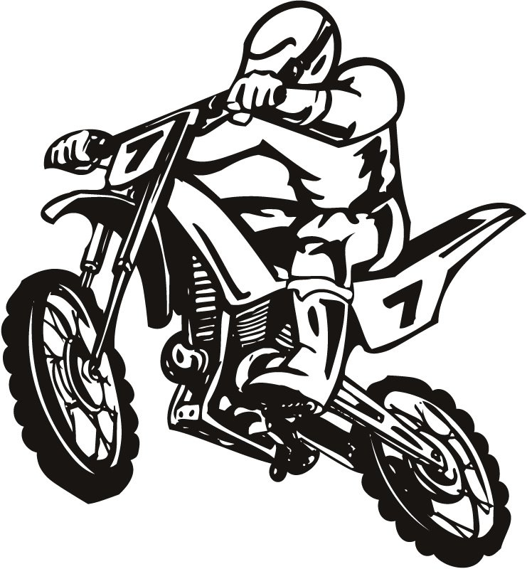 Dirtbike Rider Clipart Images amp Pictures Becuo