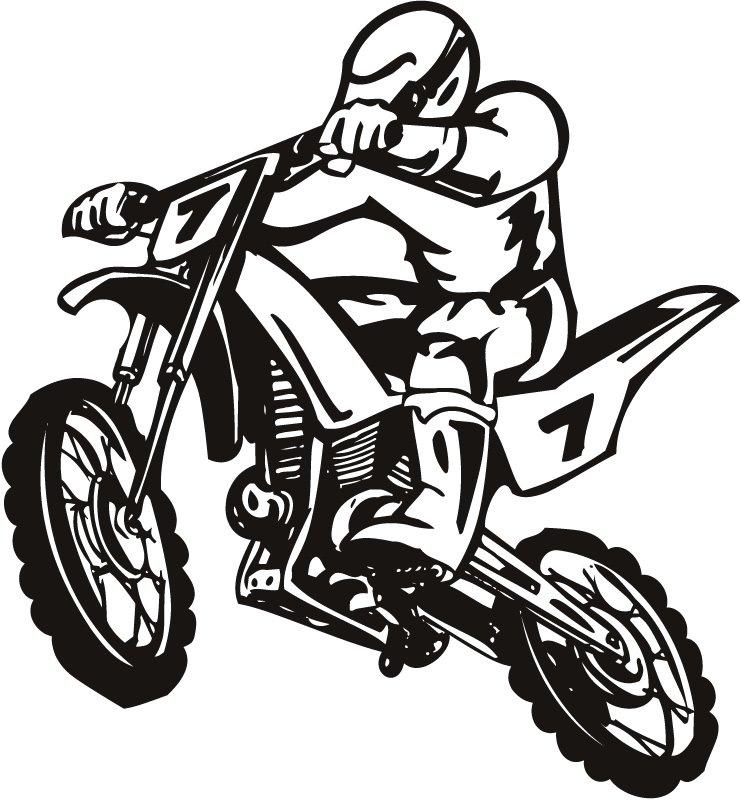 Clip Art Dirt Bike Clip Art blue dirt bike clipart kid scrambler motor sport wall sticker art decal transfers
