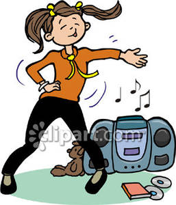 Girl Dancing   Royalty Free Clipart Picture