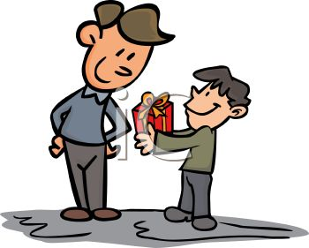 Giving Clipart 0511 0904 1203 5608 Boy Giving His Dad A Gift On