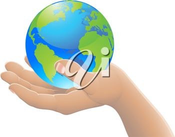 Hand Holding The World Globe    Earth Day Clipart   Pinter