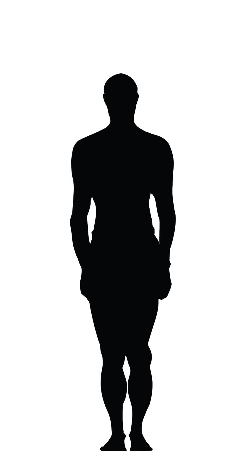 Human Body Silhouette   Clipart Best