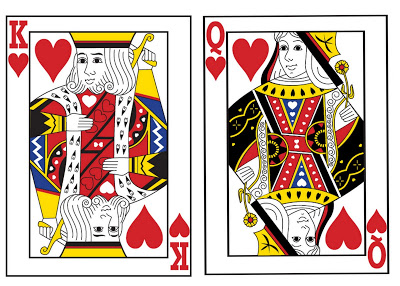 Love These King And Queen Of Hearts Clip Art Cards  Perfect For A