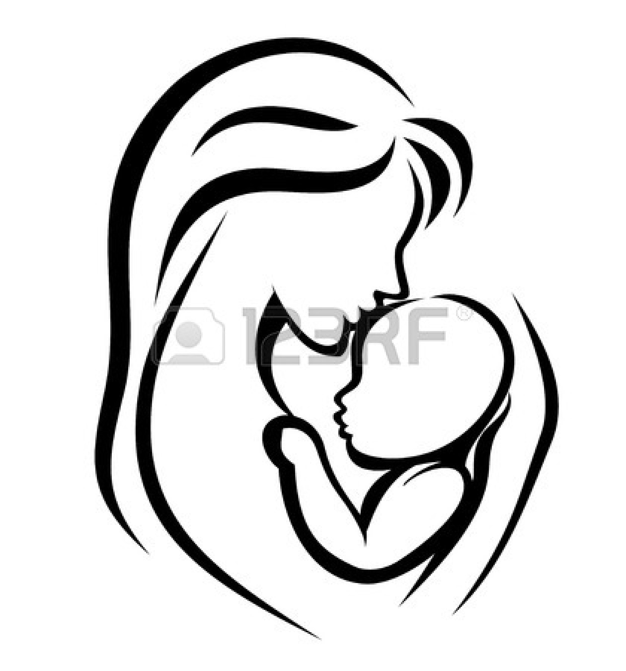 Mother And Baby Clipart   Clipart Panda   Free Clipart Images