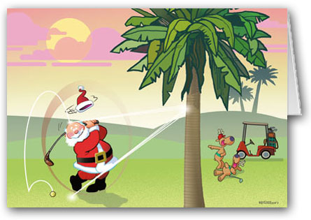 Christmas Golf Clipart - Clipart Suggest