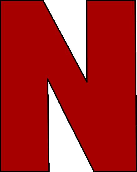 Red Letter N Clip Art Image   Large Red Capital Letter N