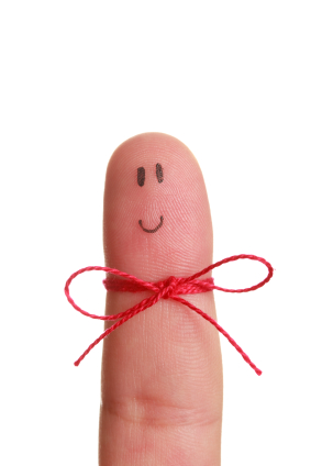 Reminder Finger With String And Happy Face #HyQDcV - Clipart Kid