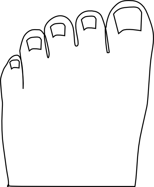 Smart Cookie Clip Art Black And White Feet3 Png