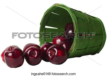 Stock Photograph Of Green Bushel Of Red Apples Ingsahe0149   Search