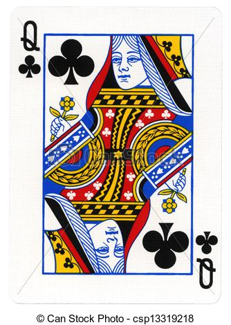 Stock Photography Of Playing Card   Queen Of Clubs   Queen Of Spades