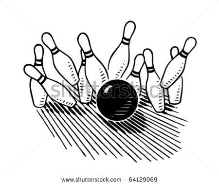 Retro Bowling Clipart - Clipart Kid