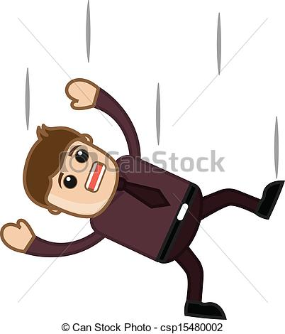 Vector   Falling Down   Office Character   Stock Illustration Royalty