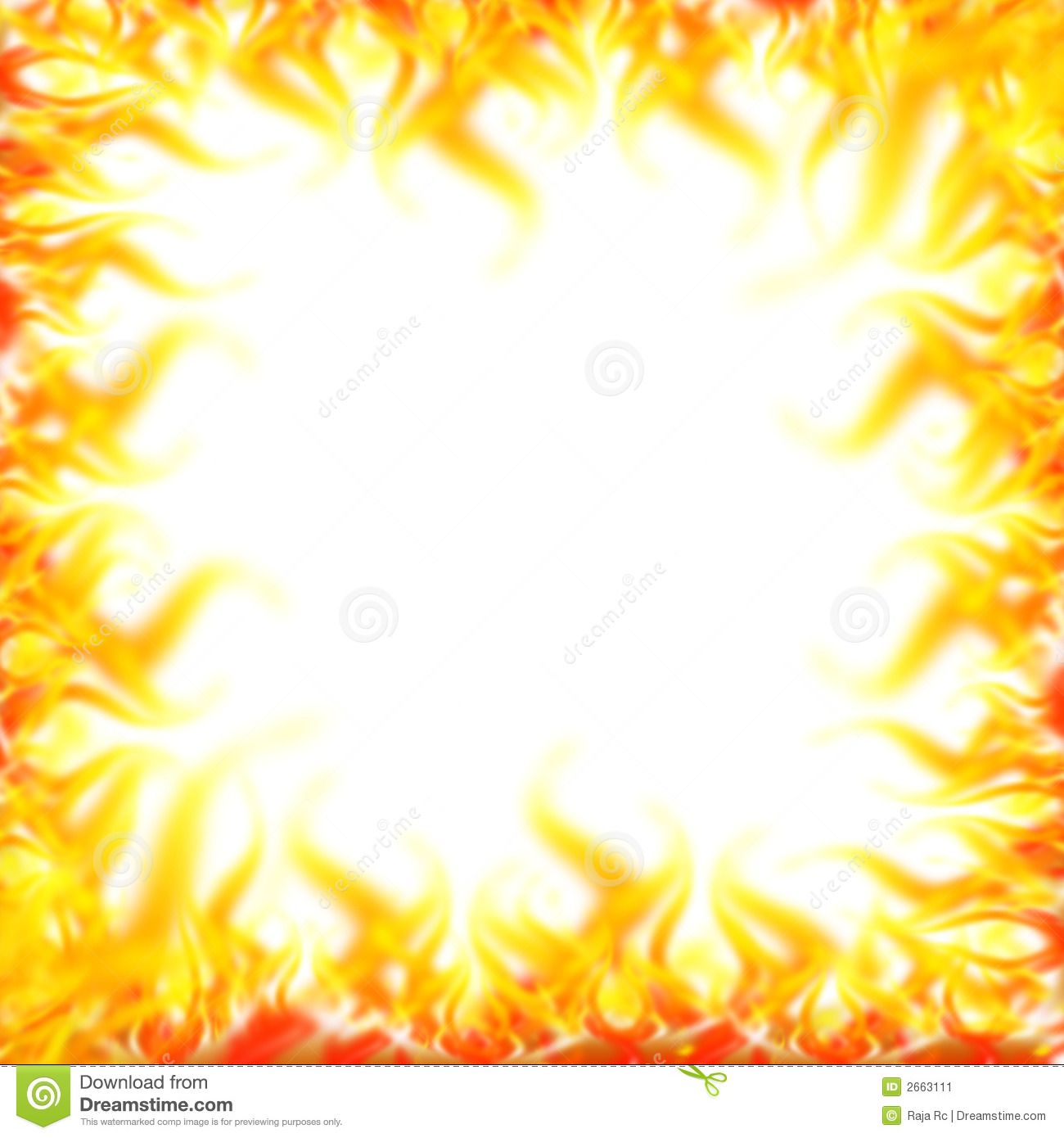 Abstract Fire Border   Computer Generated