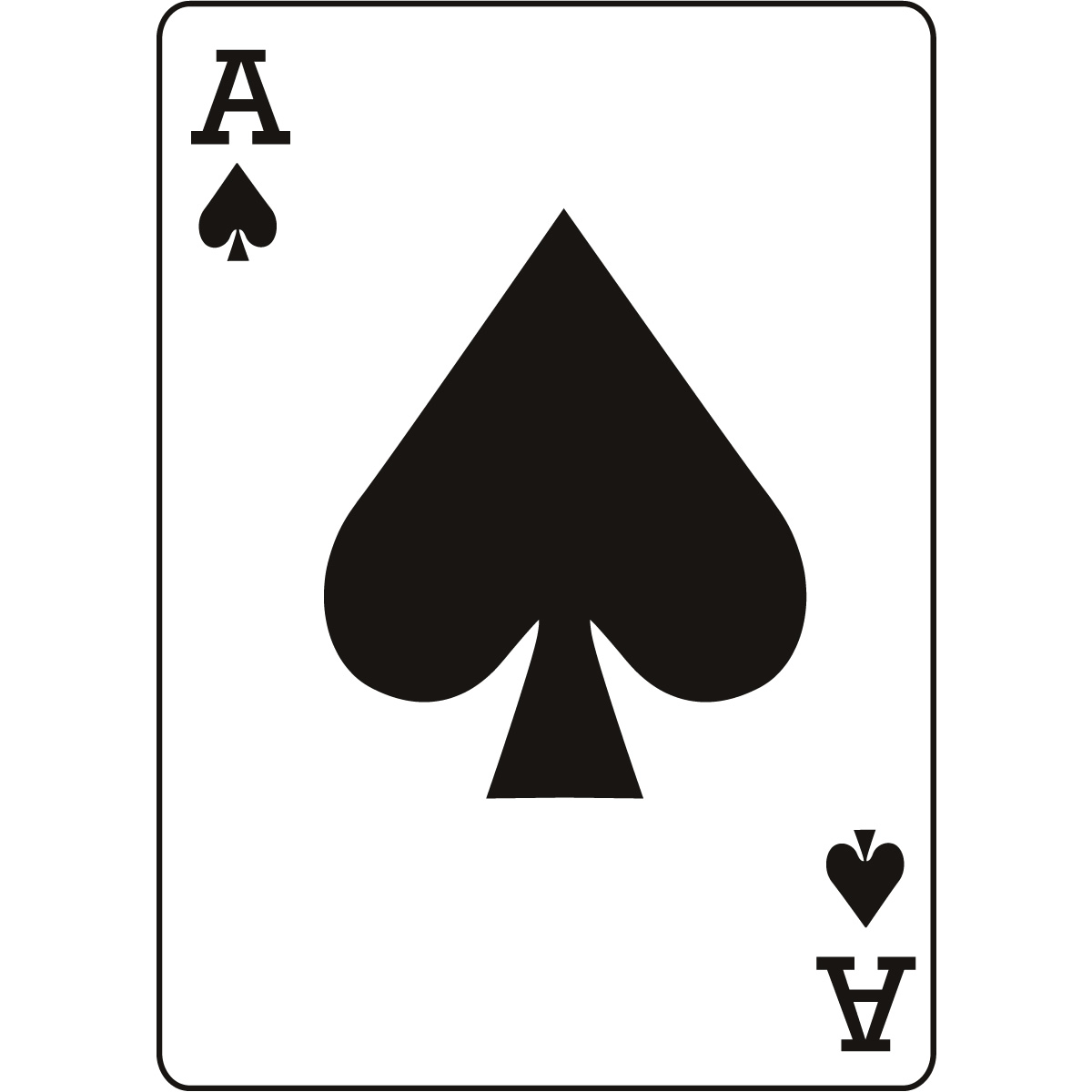Ace Of Spades Playing Card Cli...