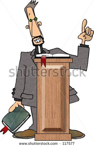 African American Preacher Clipart Clipart Illustration Of A