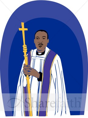 African American Priest   Clergy Clipart