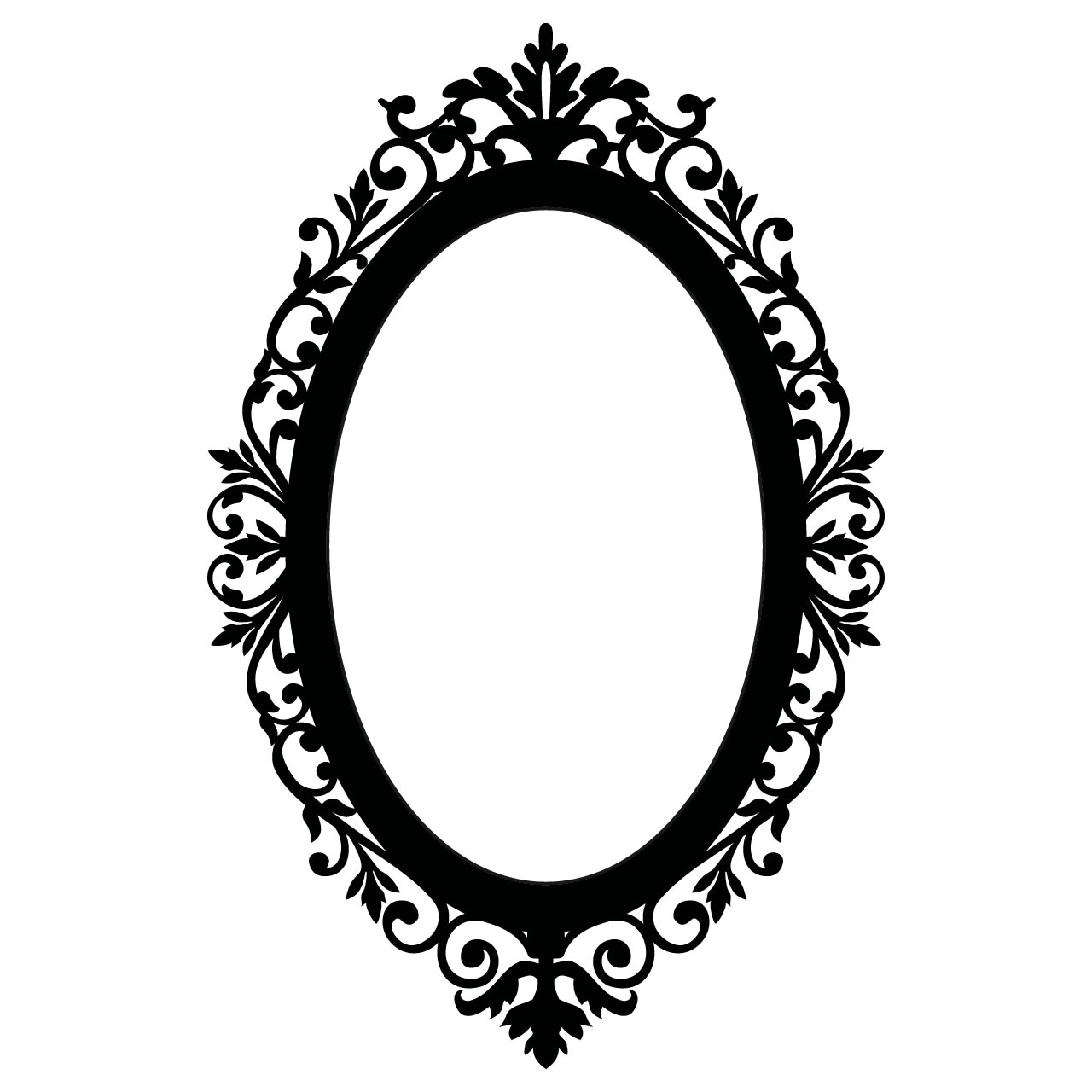 Antique Oval Frame Silhouette   Clipart Panda   Free Clipart Images