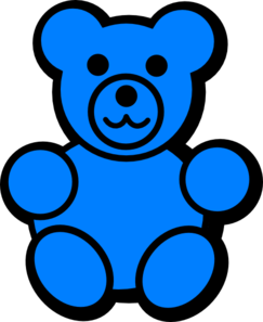 Blue Bear Clip Art At Clker Com   Vector Clip Art Online Royalty Free
