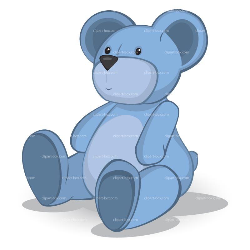 Clipart Blue Teddy Bear   Royalty Free Vector Design