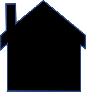 House Silhouette Vector Clipart