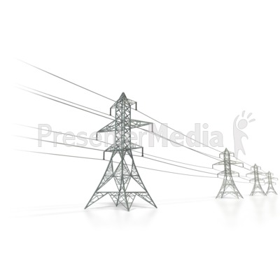 Power Transmission Lines   Presentation Clipart   Great Clipart For