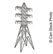 Power Transmission Tower Clipart