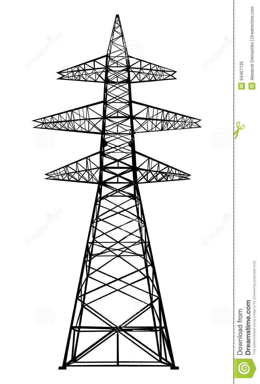 Power Transmission Tower  Royalty Free Stock Photo   Image  34467125