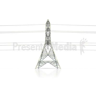 Power Transmission Tower Side   Presentation Clipart   Great Clipart