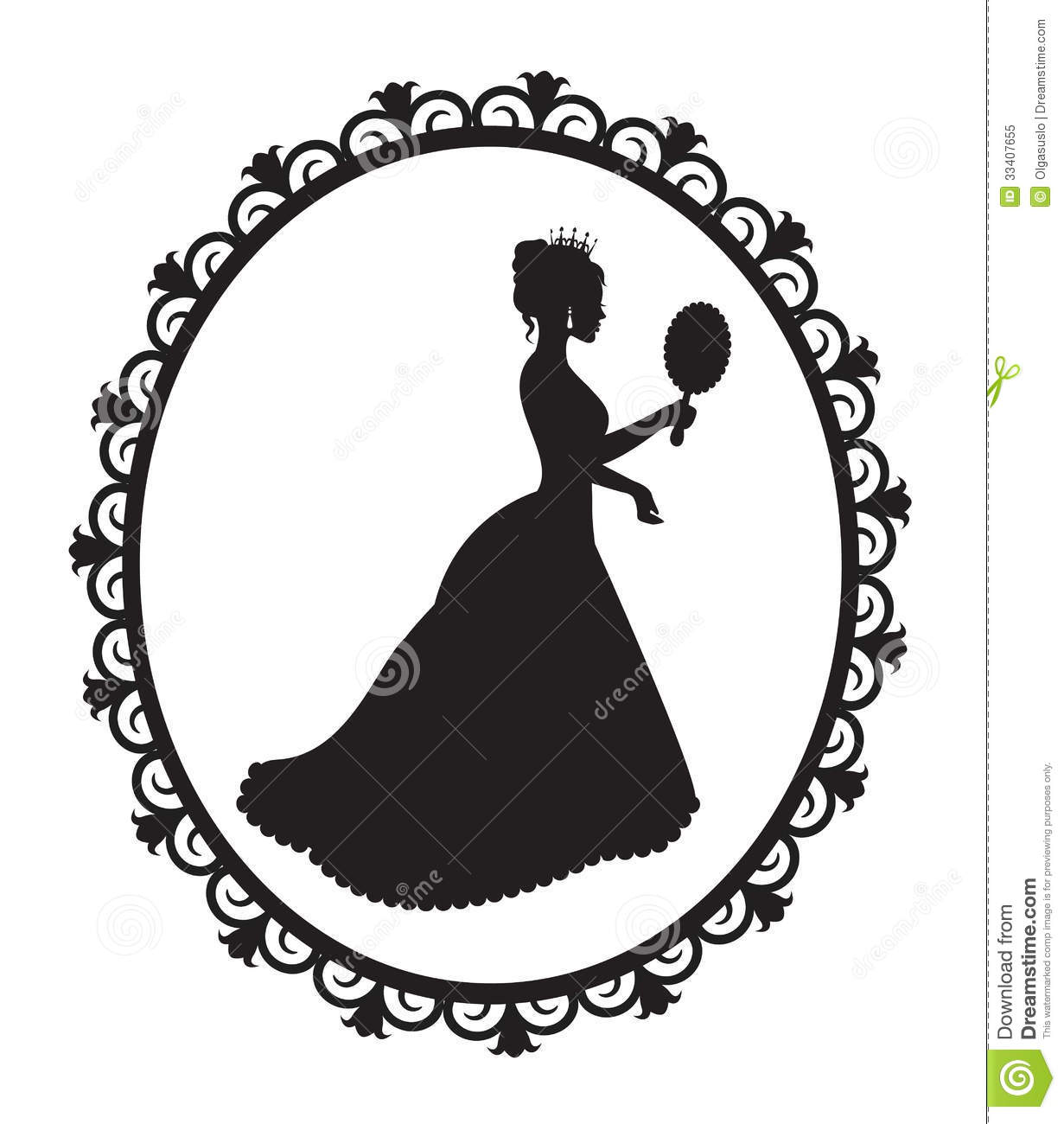 Princess Silhouette In The Frame Royalty Free Stock Photo   Image