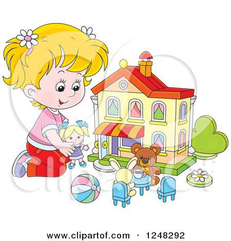 Girls Playing With Dolls Clipart - Clipart Kid Playing With Dolls Clip Art