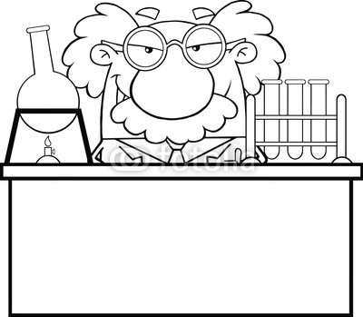 Science Lab Clipart Black And White Black And White Mad Scientist