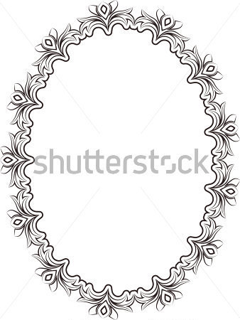 Silhouette Of Frame Oval Stock Vector   Clipart Me
