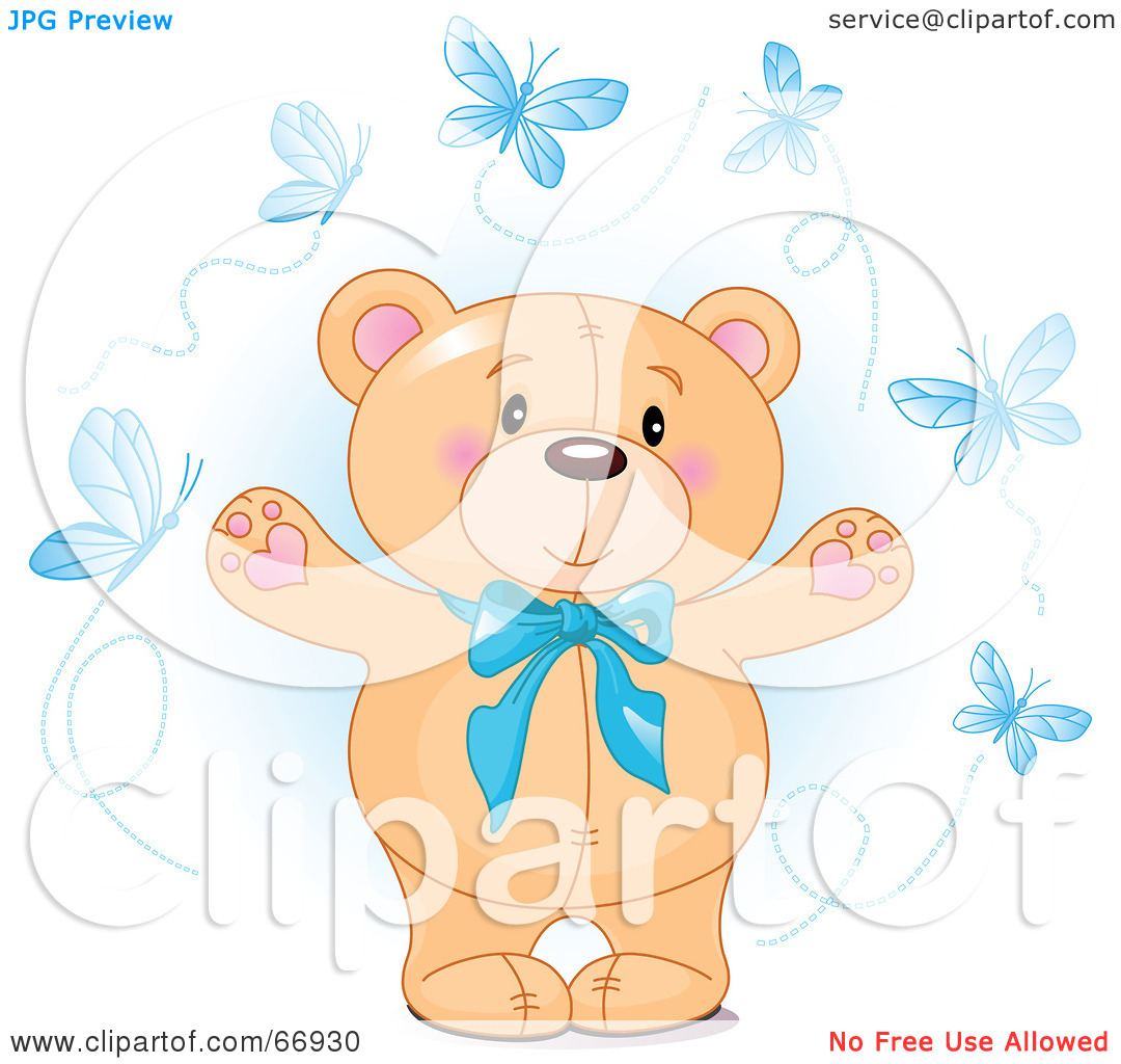 Blue Baby Bear Clipart Teddy Bear With A Blue
