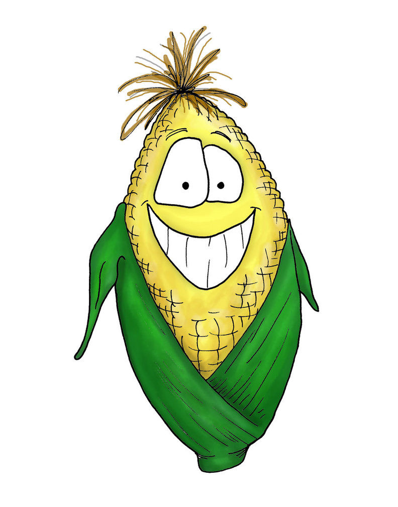 Cartoon Corn By Bnspencer D Z Cz   Free Images At Clker Com   Vector